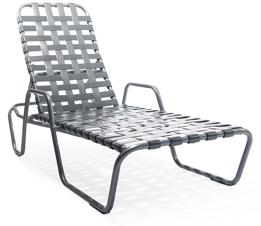 Sa 149cw stacking chaise lounge with arms roberts aluminum for Aluminum commercial stack chaise lounge