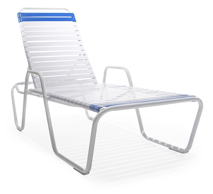 S cn14914 chaise lounge with arms roberts aluminum for Arm chaise lounge