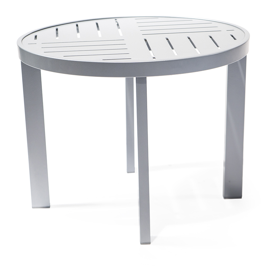 Tatl24pad 24 round cocktail table roberts aluminum for Height of cocktail tables
