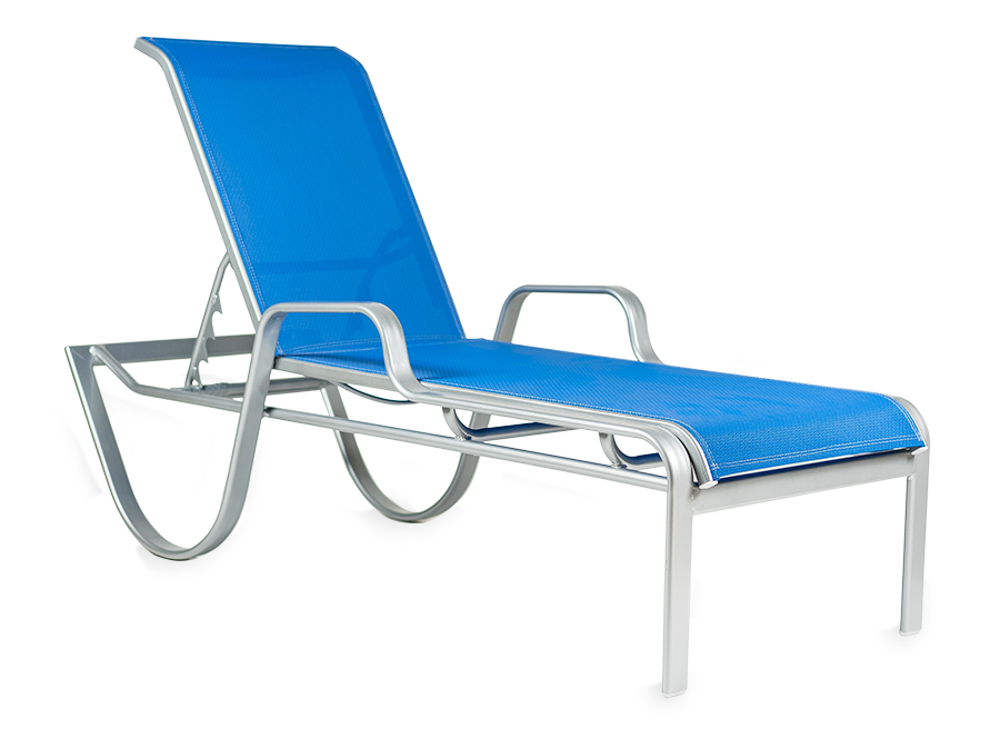 Sl Co161a Stacking Chaise Lounge Roberts Aluminum